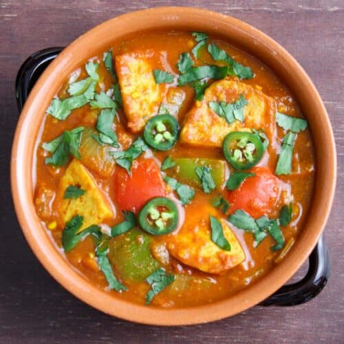 Vegan Jalfrezi Spicy Tofu Curry Feature