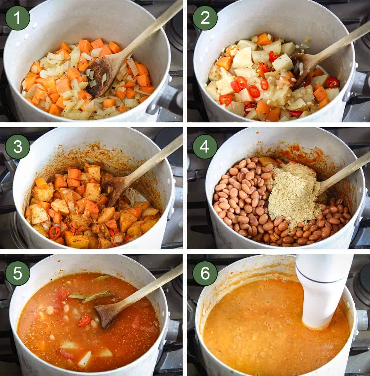 How to Make Pinto Bean Soup Process Shots
