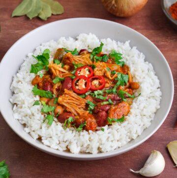 Vegan Jackfruit Chilli and Rice