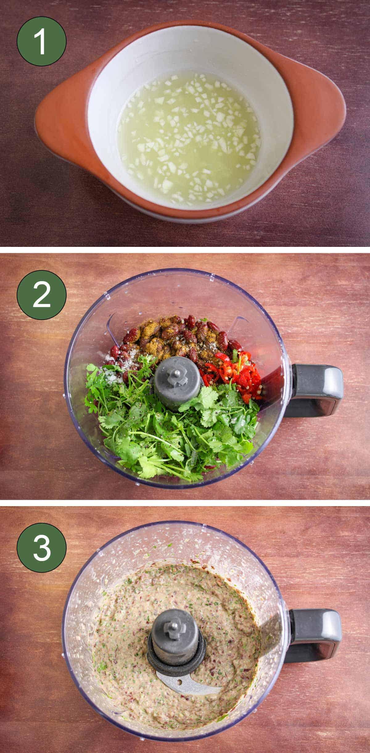 How to Make Kidney Bean Dip Process Shots