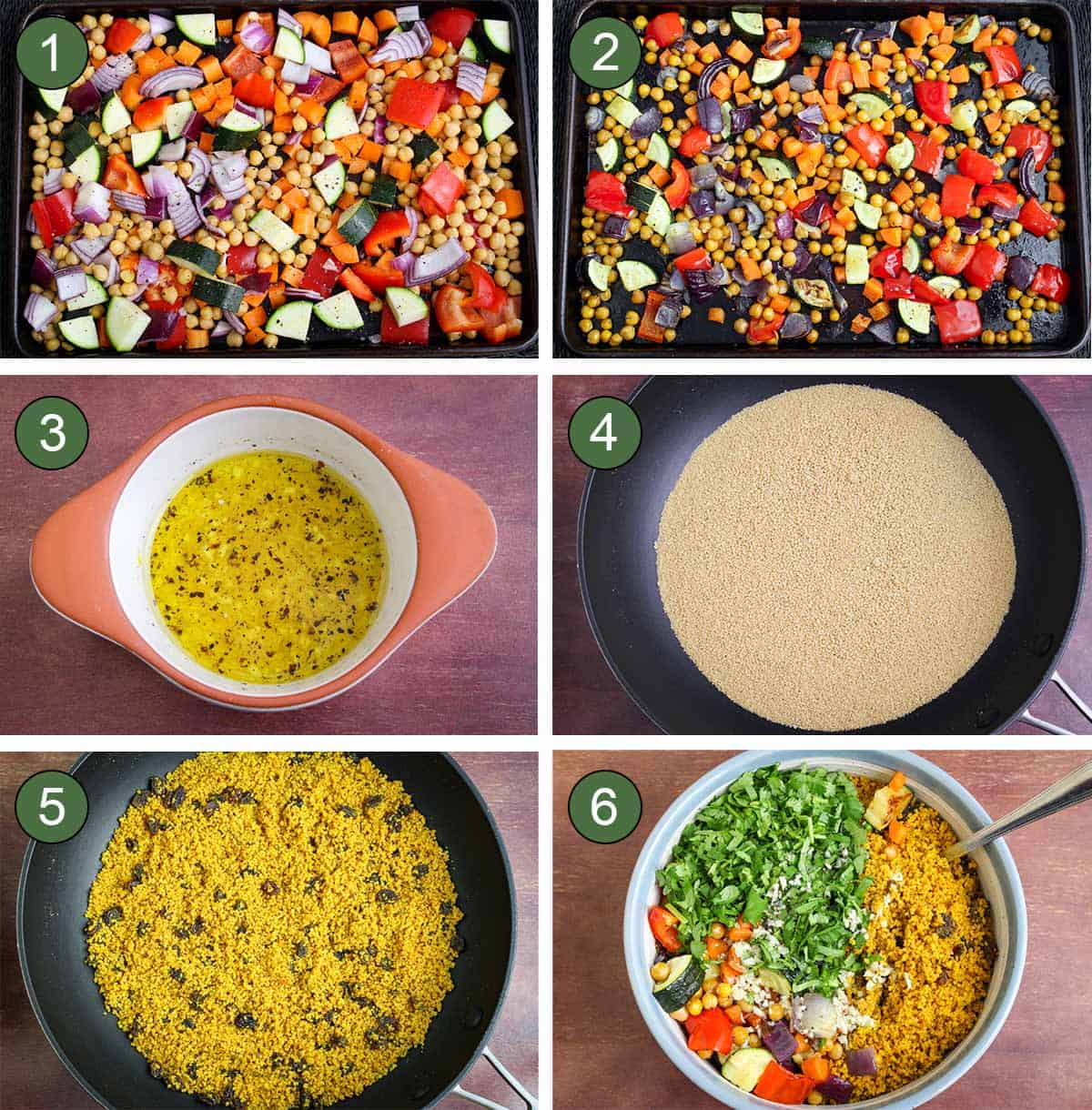 How to Make Moroccan Couscous Recipe Process Steps