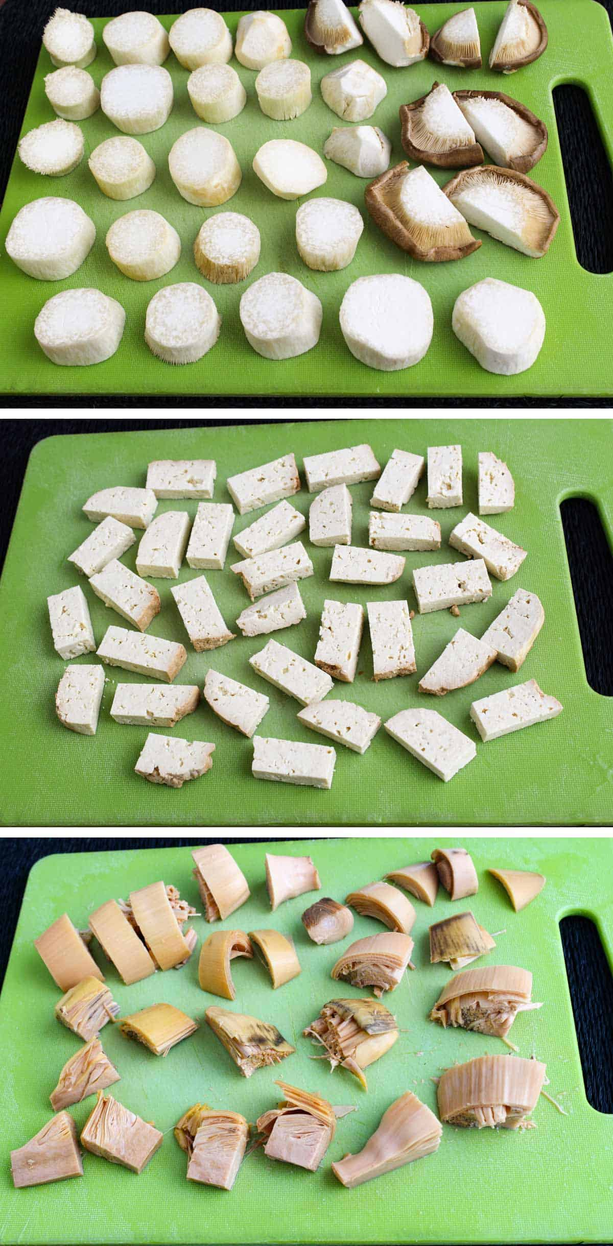 Pictures Showing How to Prepare the Fish Pie Ingredients