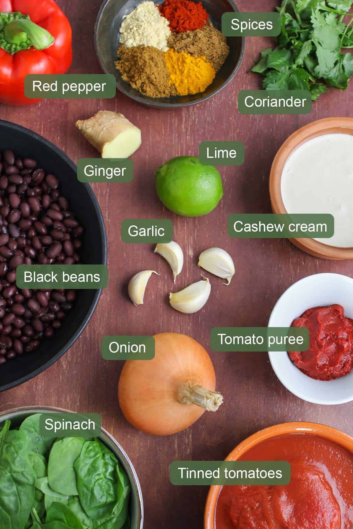 List of Ingredients To Make Black Bean Curry