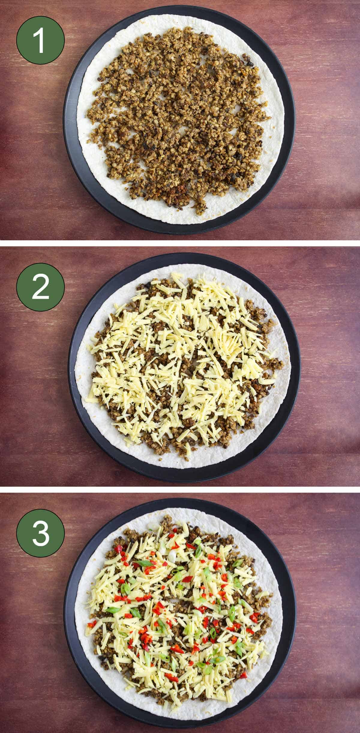 How to Fill Tortillas with Leftover Haggis and Vegan Cheese