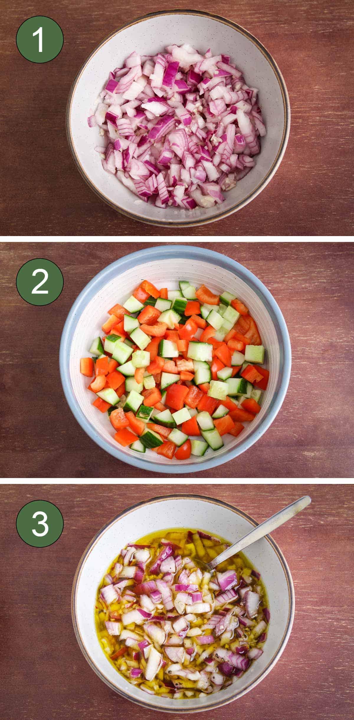 Steps Showing How to Make Vegan Bean Salad