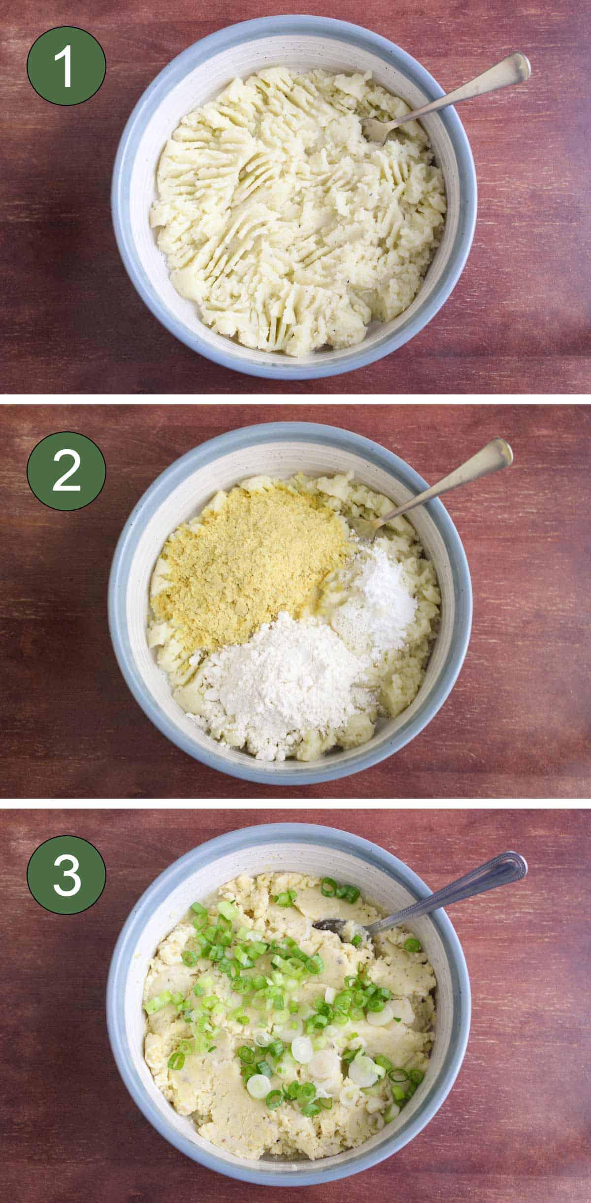 How To Make Mashed Potato Pancakes Process Shots