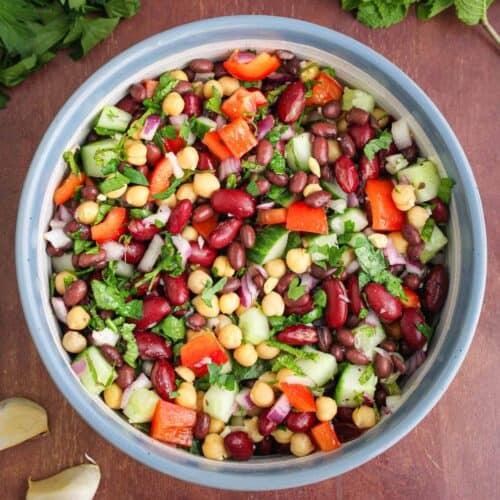 Vegan Bean Salad Feature