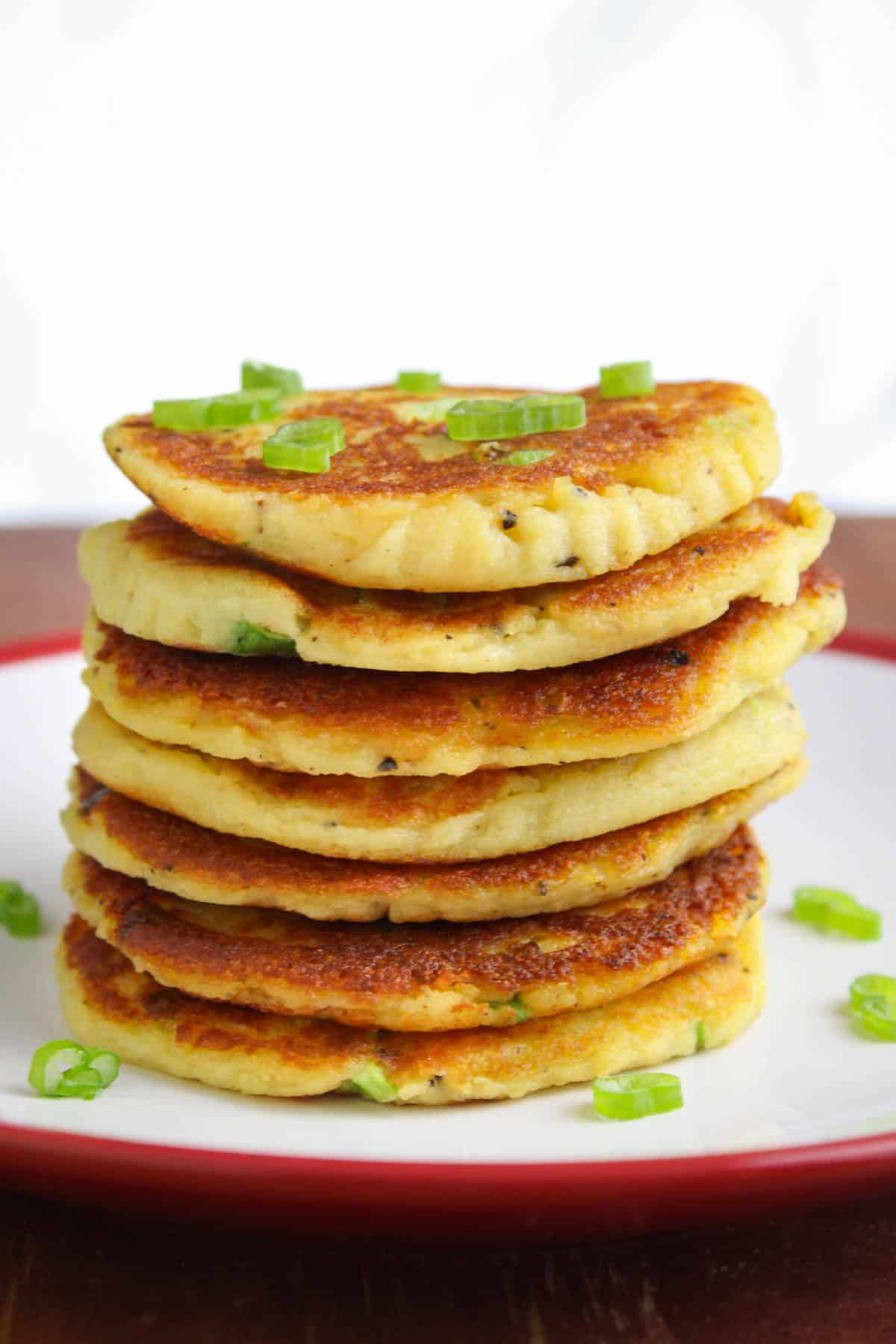 Stack of Crispy Vegan Potato Pancakes