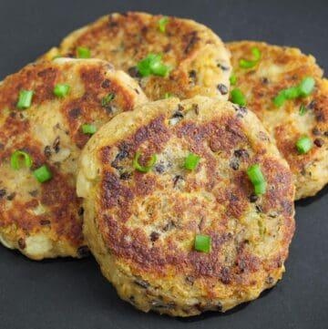 Vegan Haggis Cakes on Plate