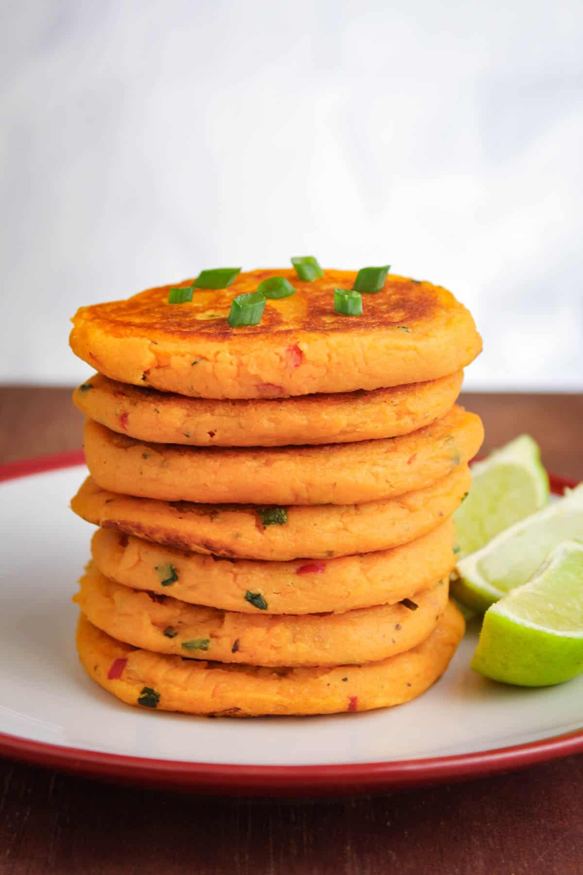 Dairy-Free Sweet Potato Pancake Stack